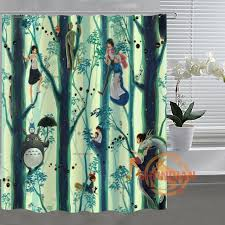 Custom Shower Curtains Studio Ghibli Totoro Custom Shower Curtain Bathroom Fabric For
