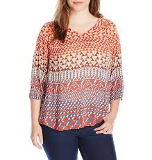s plus size blouses free shipping s plus size 3 4 sleeve ombre geo blouse