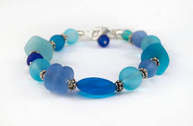 beaded wire bracelet images Bsg1 sea glass bracelet the beaded wire by jessica gomes JPG