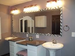glass tile mirror frame 2 pedestal sinks custom vanity for the