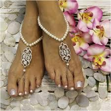 barefoot sandals wedding elizabeth pearl barefoot sandals rhinestones pearl rhinestones