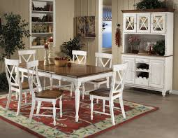 table two tone dining table home interior plan