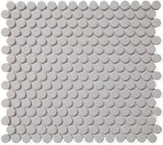 grey bright penny round cc mosaics collection ceramic tiles by