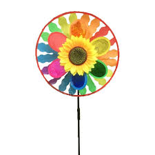 amazon com 3 layer sunflower windmill wind spinner plastic for