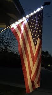 Flag Pole Lights Solar Powered 9 Led Lighted Flag Pole Kit With 3x5 Us Flag And Mounting Hardware