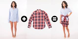 how to create a skirt with men u0027s shirts how to wear a boyfriend