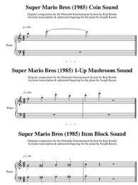 super mario bros damage warp sound sheet music