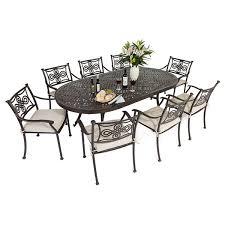 8 seat patio table 8 seat cast aluminium outdoor dining sets