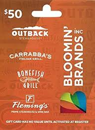 bonefish gift card bloomin brands gift card 50 gift cards