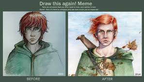 Kvothe Meme - i like to see the improvement of my drawings but marta montell