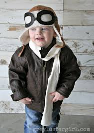 halloween airplane costume kids aviator costume with diy pilot goggles