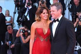 Kristen Wiig Red Flag Venice Film Festival 2017 Matt Damon And Wife Luciana Barroso
