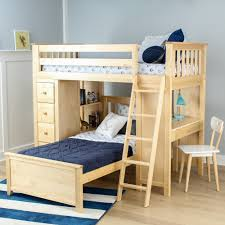 jackpot twin over twin loft bed storage study natural kids n cribs