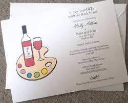 wine party invitation drink and paint party invitation paint