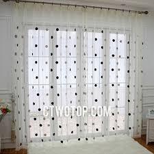 Polka Dot Curtains Dreamy Translucent Thin White Black And Brown Polka Dot Curtains