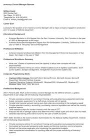 resume for a exle inventory manager resume exle for application warehouse