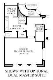 dual master bedroom floor plans at serrano the arzono st home design
