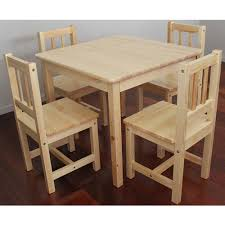 childrens wooden table and chairs solid new zealand pine child table four chairs wooden kids table