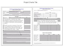 project charter template note multiple u201ctabs u201d in project charter