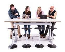 Height Adjustable Meeting Table Confluence 8 Is A Height Adjustable Conference Table Designed By