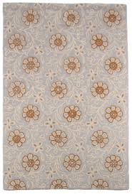 Orange And Grey Rugs Contemporary Modern Wool Area Rug Carpet 5x8 Hand Tufted Grey