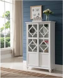 savings on white wood contemporary curio bookcase display storage