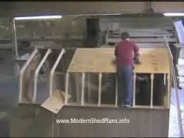 How To Build A Shed Plans For Free by How To Build A Shed Free Step By Step Instructions Youtube