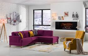 cantona sectional zigana purple yellow demka furnishing inc