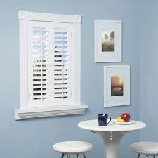 interior shutters home depot homebasics plantation faux wood white interior shutter price