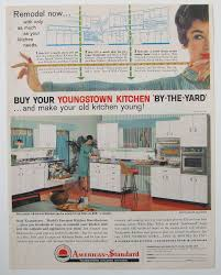 1950s kitchen vintage youngstown cabinet magazine advertisement