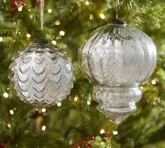 oversized silver mercury glass ornaments pottery barn au