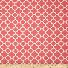 Pink Home Decor Fabric Home Decor Quatrefoil Pink Discount Designer