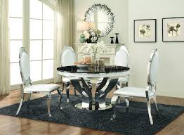 anchorage dining table 107891 coaster w chrome base options