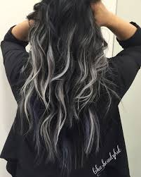 black low lights for grey black silver balayage curly hair pinteres