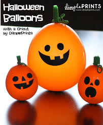 halloween party balloons dimple prints