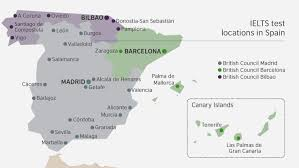 Valladolid Spain Map ielts administration centres british council