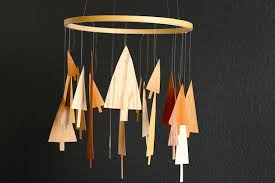 how to faux wooden tree mobile make
