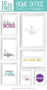 free printable download 10 home office 8x10 printables to inspire