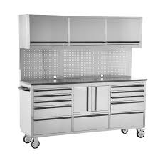 Metal Drawer Cabinets Oemtools 24615 72 Inch 11 Drawer Cabinet And Upper Cabinet