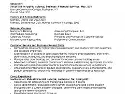 Financial Services Resumes Homely Inpiration Entry Level Customer Service Resume 5 Full Time