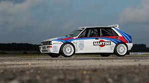 martini livery lancia rally driven lancia delta causes bidding war sells for 297k