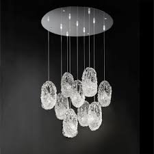 White Murano Chandelier by Contemporary Chandelier Murano Glass Incandescent Genesi