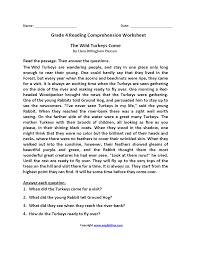 4th grade reading worksheets u2013 wallpapercraft