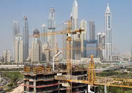 seven liebherr tower cranes work in dubai