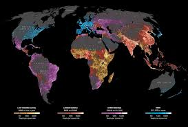 population density map map of global per capita income and population density