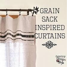 Feed Sack Curtains How To Make Feed Sack Curtains Vintage Feed Sack Curtains Grain