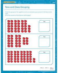 tens and units worksheets printable tens and ones grouping 1st grade math worksheets math blaster
