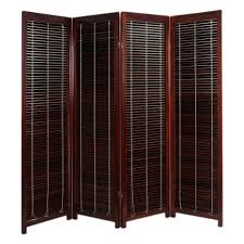 room dividers design tranquility wooden shutter screen divider 4
