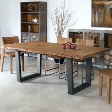 wood and iron dining room table sequoia wood iron dining table in light brown humble abode