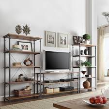 Natural Wood Bookcases Wall Units Awesome Tv And Bookcase Units Appealing Tv And